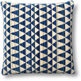 Dransfield and Ross Gamut Cut 22x22 Pillow, Blue/Beige