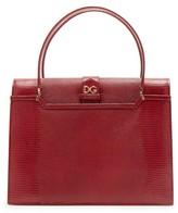 Dolce & Gabbana Ingrid Medium Lizard-effect Leather Bag - Womens - Burgundy