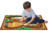 Melissa & Doug Construction Rug & Vehicle Set