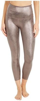 Beyond Yoga Viper High Waisted Midi Leggings (Mocha Viper) Women's Casual Pants