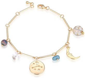 Eye Candy Los Angeles Aries Natural Stone Charm Bracelet