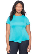 ELOQUII Plus Size Asymmetrical Neoprene Top