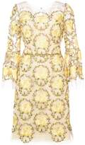 Marchesa floral lace dress