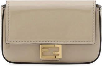 Fendi Patent Micro Baguette Crossbody Bag