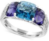 Effy Multi-Gemstone (5-1/5 ct. t.w.) and Diamond (1/5 ct. t.w.) Ring in 14k White Gold