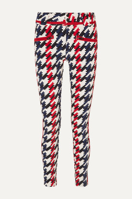 Perfect Moment Aurora Ii Houndstooth Slim-leg Ski Pants - Red