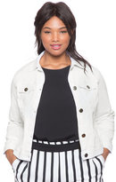 ELOQUII Plus Size White Denim Jacket