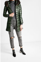 Duvetica Down Coat with Fur-Trimmed Hood