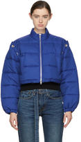 3.1 Phillip Lim Blue Cropped Puffer Ski Coat