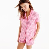 J.Crew Gingham pajama top