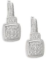 Judith Ripka Natalie White Sapphire & Sterling Silver Cushion Drop Earrings