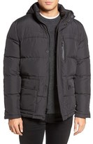 Kenneth Cole New York Hooded Down & Feather Fill Jacket