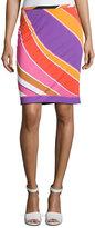 Emilio Pucci Printed Slim Miniskirt, Purple/Pink