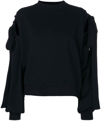 Ioana Ciolacu Sweater With Tie Sleeves