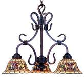 Elk Lighting ELK Lighting Buckingham Tiffany 3-Light Chandelier in Vintage Antique