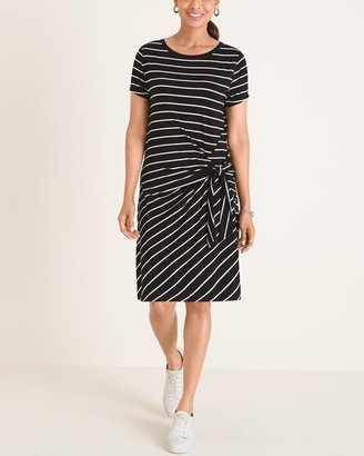 Chico's Striped Twist-Front Dress