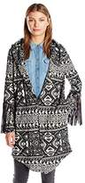 Haute Hippie Women's Coat With Leather Fringe