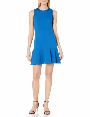 Lark & Ro Amazon Brand Women's Sleeveless Fit and Flare Dress with Pieced Bodice