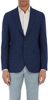 Boglioli Men's Jacquard Two-Button Jacket-BLUE