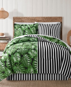 Sunham Fairfield Square Bermuda Palm 8Pc California King Comforter Set Bedding
