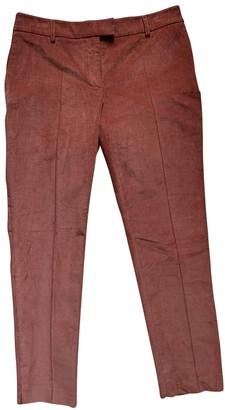 Paul & Joe \N Orange Cotton Trousers for Women