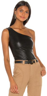 Commando Faux Leather One Shoulder Bodysuit