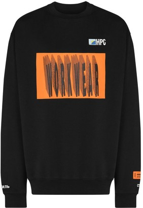 Heron Preston Workwear print sweatshirt