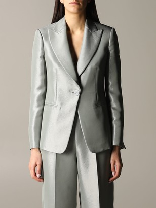 Emporio Armani Suit Jacket In Lurex Gabardine