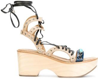 Toga Pulla Platform Studded Sandals