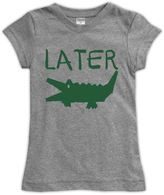 Urban Smalls Heather Gray 'Later Gator' Fitted Tee - Toddler & Girls