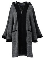 Lands' End Women's Hooded Cape-Navy Lurex