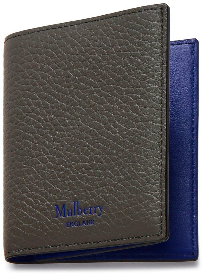 Mulberry Trifold Wallet Earth Grey and Blue