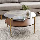 west elm Mid-Century Art Display Round Coffee Table - Walnut