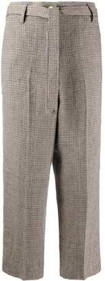 Barena Houndstooth Pattern Trousers