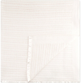 The Little White Company The Little Company Babys White Cellular Cotton Cot Blanket