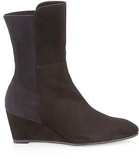 Stuart Weitzman Women's Beatrice Suede Wedge Boots