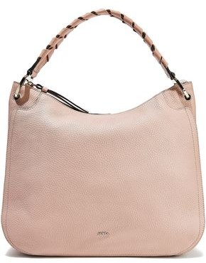 Furla Rialto Medium Braid-trimmed Pebbled-leather Tote