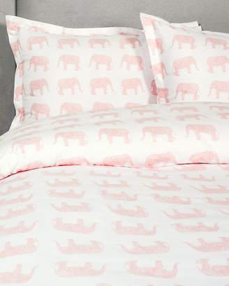 Melange Home Pink Elephant 400 Thread Count Duvet Cover Set