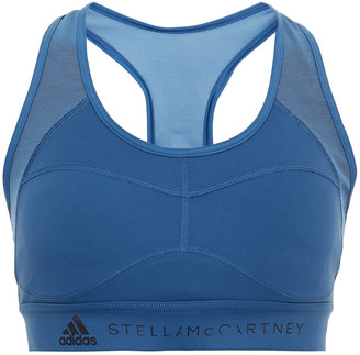 adidas by Stella McCartney Mesh-paneled Printed Stretch Sports Bra
