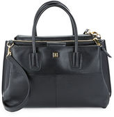 Ivanka Trump Multi-Compartment Pebbled Leather Satchel