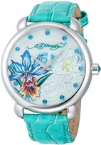 Ed Hardy Women's GN-GR Garden Green Watch