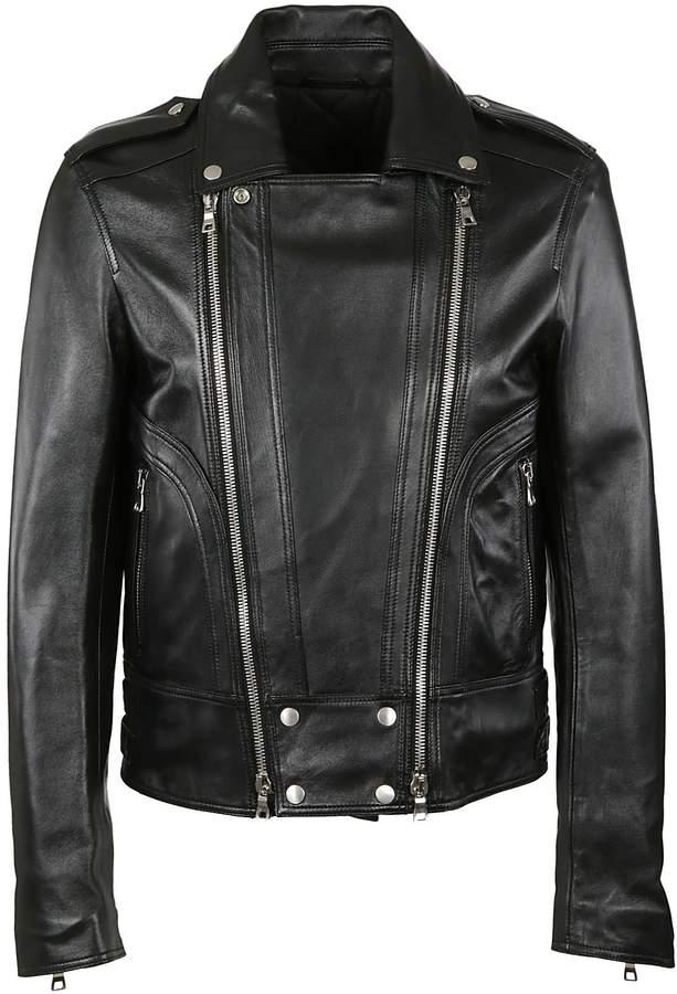 Balmain Zipped Biker Jacket