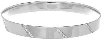Lana 14K White Gold Vanity Expose Bangle with Diamonds