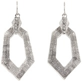 GUESS Lucite Hexagon Drop Earrings (Silver) - Jewelry