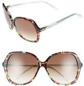 Kate Spade Women's 'Jonell' 58Mm Oversized Sunglasses - Black/ Havana