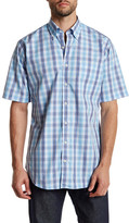 Peter Millar Nantucket Pane Regular Fit Short Sleeve Shirt