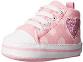Gerber Pink Hearts Hi-Top With Glitter Heart Sneaker (Infant)