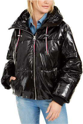 Tommy Hilfiger Shiny Hooded Puffer Coat