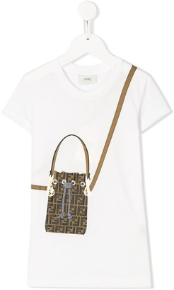 Fendi Kids Mon Tresor bag print T-shirt