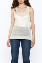 White + Warren Sheer Sleeveless Top